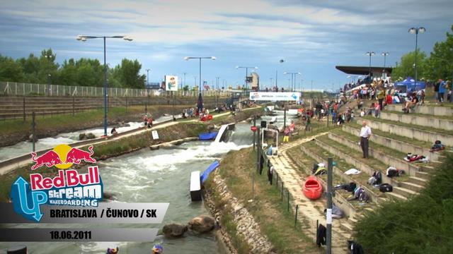 Wakeboarding Comp on Man Made Stream