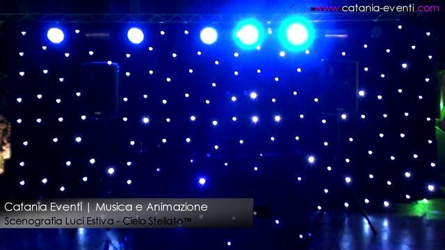 Scenografia Luci Estiva - Cielo Stellato ™  Catania Eventi on Vimeo