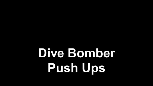 Dive bomber push ups - Dive bomber push up ...