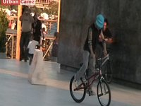 BMX rider at Thessaloniki Bay area