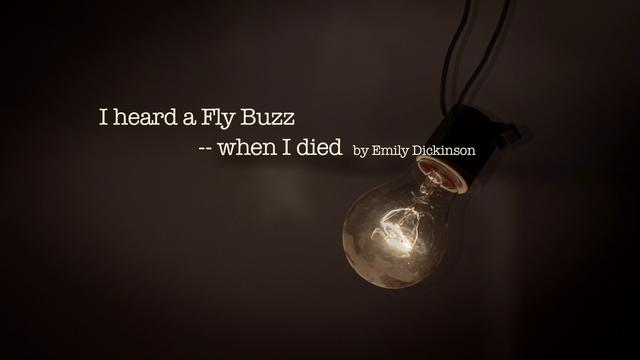"i heard a fly buzz when I heard a fly buzz--when i died by emily dickinson made by chenjianhua and shuidianzhen questions: "" 1 when you are tired or sad, you heard a fly buzz, what."