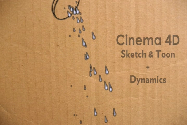 Cinema 4D - Sketch and Toon Droplets