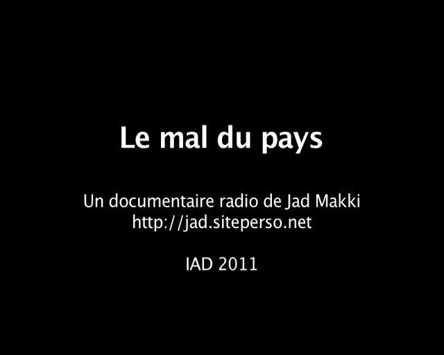 Le mal du pays on vimeo for Le journal du pays d auge