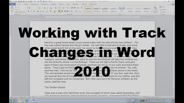 how to use track changes in word 2010