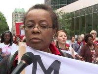 ''Cri silencieux'' des femmes Congolaises de Montréal (Canada).