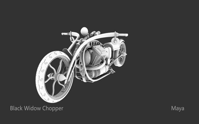Chopper Black Black Widow Chopper