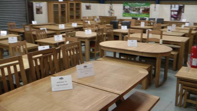 Oak Dining Table Furniture Warehouse Showroom Staffordshire Top Furniture Ltd On Vimeo