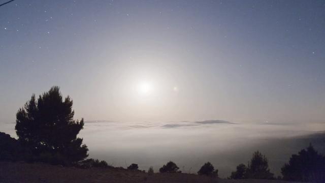 Mar de nubes desde el CAAT