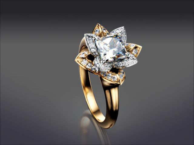 Two Tone Lotus Engagement Ring On Vimeo
