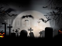 Halloween Graveyard Full Moon g