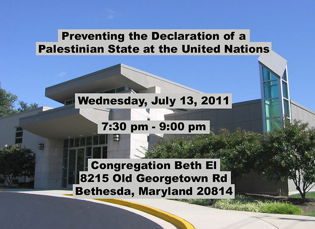 Preventing the Declaration of a Palestinian State at the United Nations
