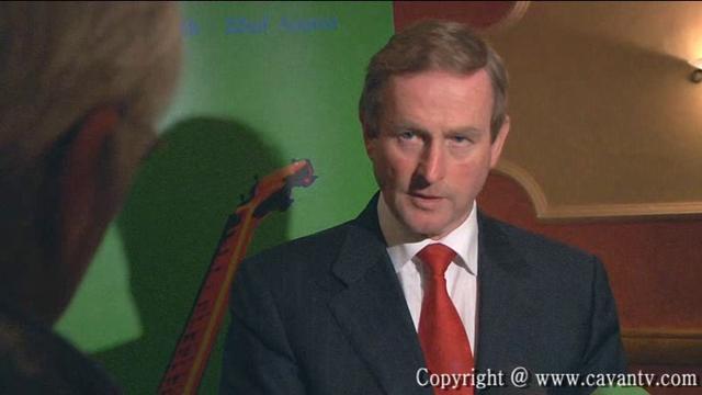 An Taoiseach Enda Kenny TD  Press Conference in Farnham Arms Hotel Cavan