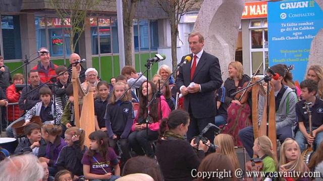 An Taoiseach Enda Kenny TD Launches Fleadh Cheoil na hEireann Cavan 2011