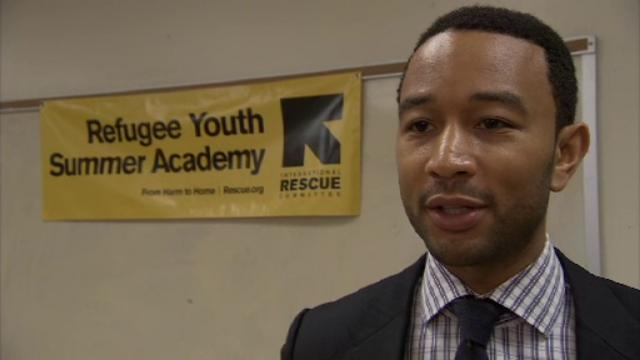 John Legend at the IRC Refugee Youth Summer Academy