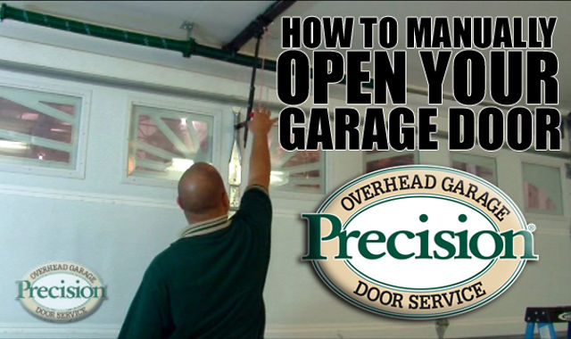 how to manually open your garage door recut on vimeo