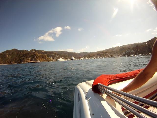 Go Fast Boat off Catalina Island