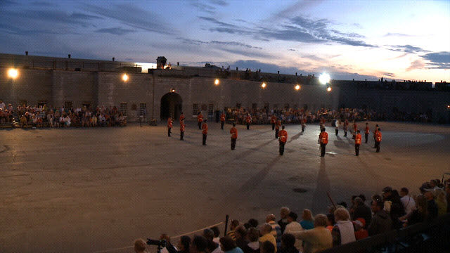 Fort Henry Sunset Ceremonies, Kingston, Ontario, Canada