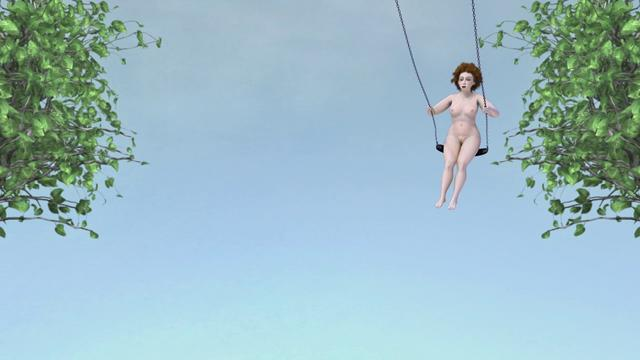 """The Swing"" (2006) by Claudia Hart"