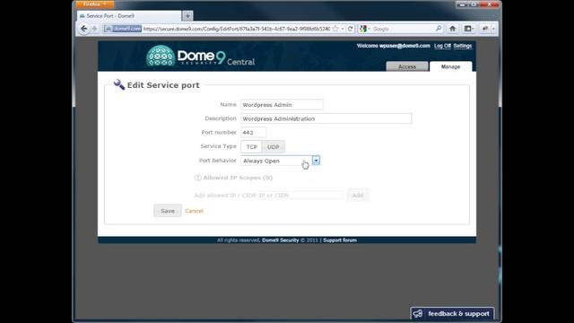 Securing WordPress Servers with Dome9