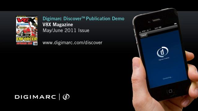 V8X Magazine - Digimarc Discover Publication Demo