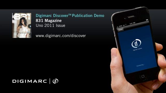831 Magazine - Digimarc Discover Publication Demo