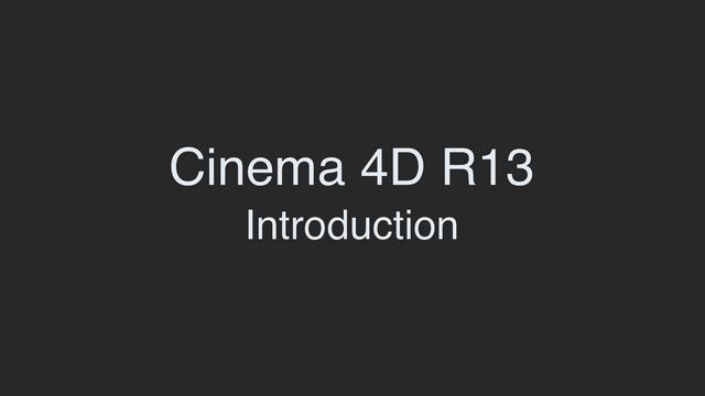 cinema 4d r13 interface navigation tutorial on vimeo. Black Bedroom Furniture Sets. Home Design Ideas