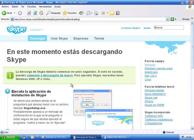 descargar e instalar skype gratis en espanol