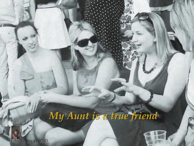Poems to aunts from a niece my aunt my friend on vimeo