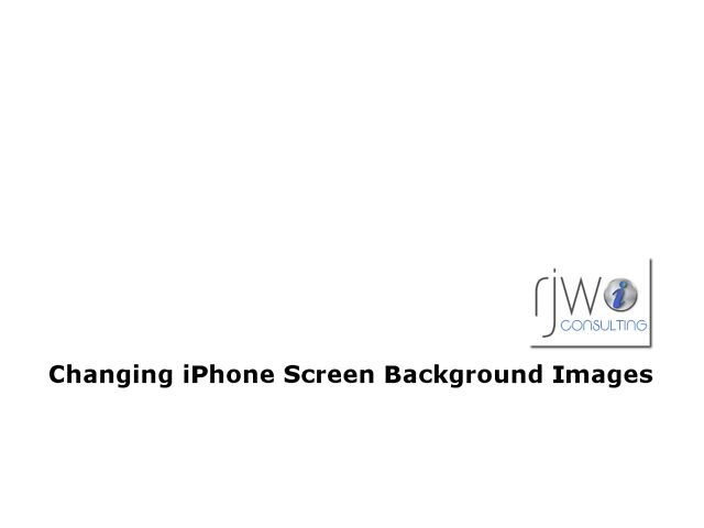 iPhone How-To: Changing Screen Background Images