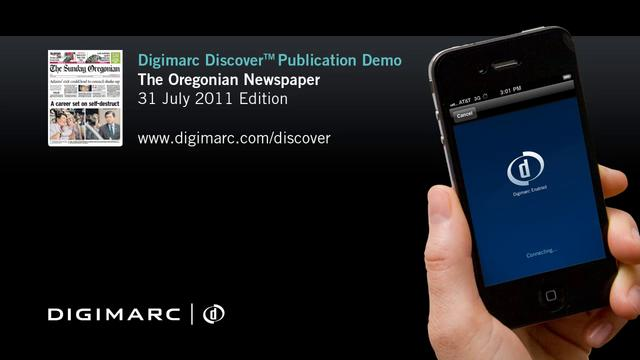The Oregonian - Digimarc Discover Publication Demo