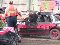 Demolition derby at the Clallam County Fair