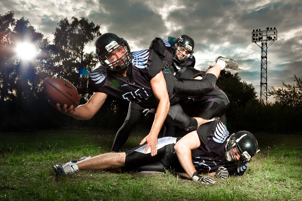 making of American Football team photo shoot by ...
