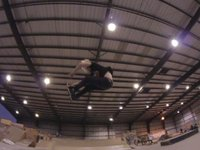 """Rollerwarehouse and friends hit up B and 28th """"The Hanger"""" skate park for this weeks wednesday night skate.  Blading by Danny Malm, Sean Keane, Toby Holden, Andy Johnson, Matt Timmons, Jeremy Raff, and Will Cosgrove."""