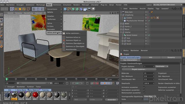 rundflug cinema 4d r13 01 oberfl che und modeling. Black Bedroom Furniture Sets. Home Design Ideas