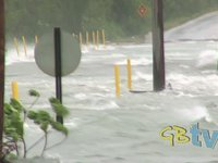 Dramatic video shows flooding and damage caused by Hurricane Irene in Grand Bahama, The Bahamas