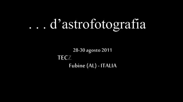 d astrofotografia ♥ Agosto 2011 - v.1.1 edit [hd ready 720p]