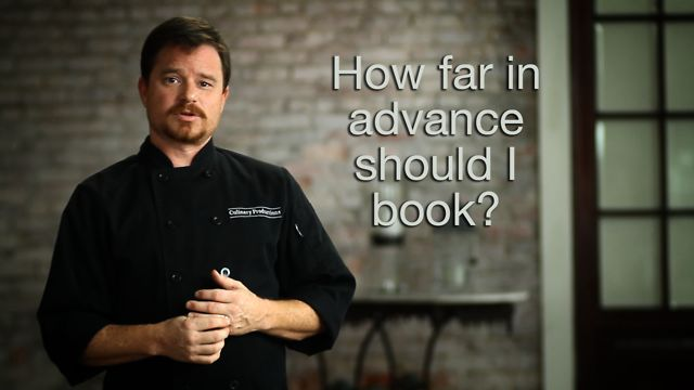 How far in advance should I book my caterer?