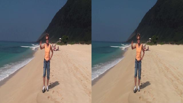 3d stereoscopic sbs cross eye rl views from yokohama bay beach