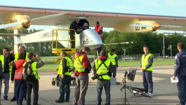 Solar Impulse European solar flight (HD) - journey to brussels