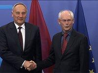 Meeting with Andris BERZINS, President of Latvia