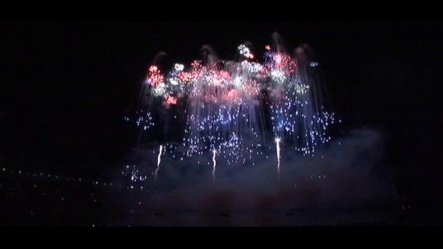 Pyromusical fireworks display