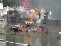 Glines Canyon Dam demolition begins