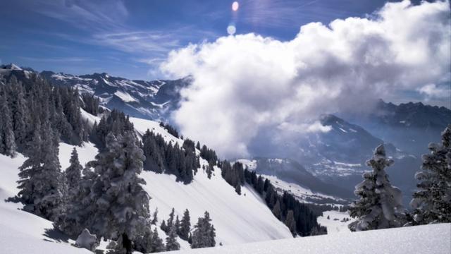Swiss Winter time lapse meditation
