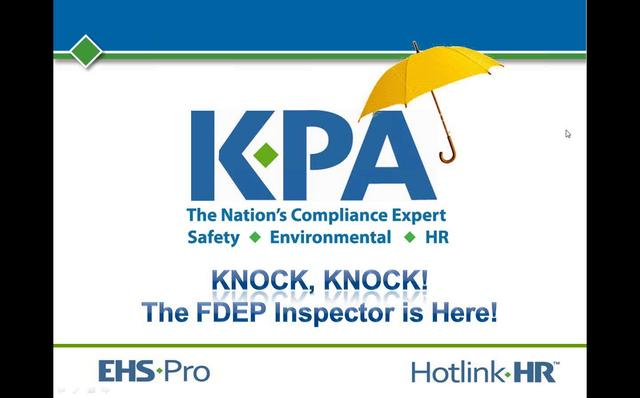 Florida Specific: What to do when an FDEP Inspector Knocks