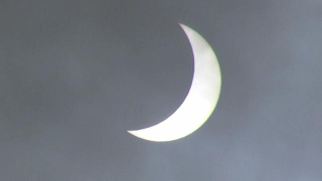 A plane flied across the partial solar eclipse!
