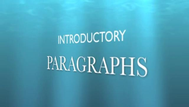 introductory paragraph in essays