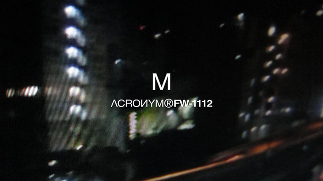 Video: Acronym – ACR-FW-1112-M