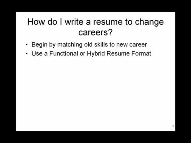 Resume How to Write a Career