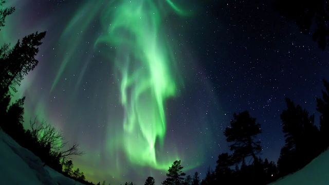 Aurora Borealis in Finnish Lapland 2011