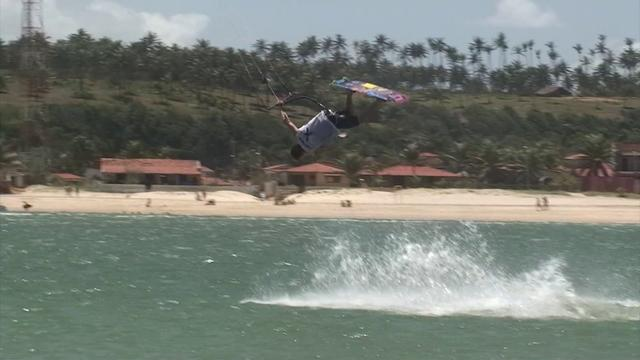 Michael training on the new GP C-kite in Brazil.
